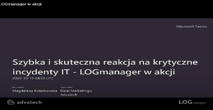 LOGmanager – nagranie ze spotkania on-line